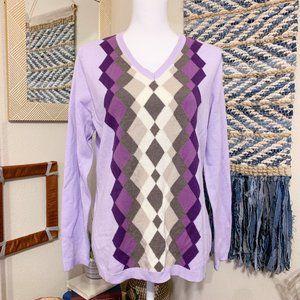 Croft & Barrow Diamond Pattern Sweater